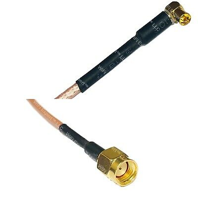 USA-CA RG316 DS SMA FEMALE ANGLE to MMCX MALE ANGLE Coaxial RF Pigtail Cable