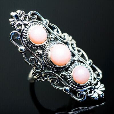 Large Pink Opal 925 Sterling Silver Ring Size 7.5 Ana Co Jewelry R960601