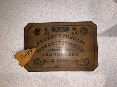 Antique OUIJA 1920 Game Board J.M. SIMMONS & CO Chicago OCCULT + PLANCHETTE
