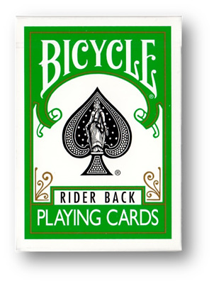 Green Rider Back Deck - Bicycle Poker Deck