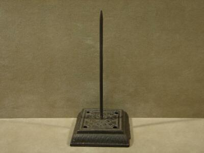 Antique Ornate Cast Iron Receipt Holder Victorian Bill Spike Paper Note Spindle