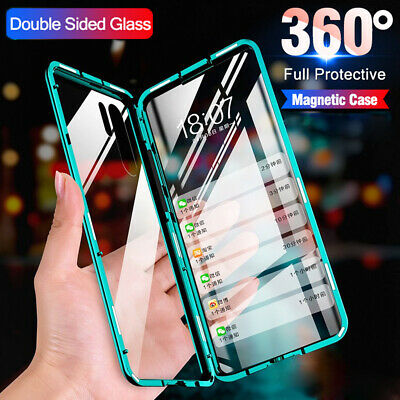360° Full Cover Tempered Glass Magnetic Metal Case for Samsung Galaxy Note10 S10