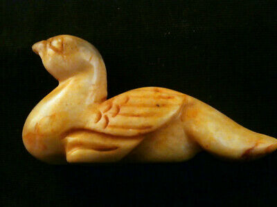 Nice Chinese Old Jade 100% Hand Carved *Bird* Statue Y125