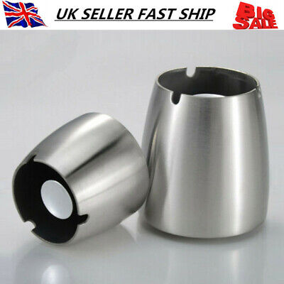 Stainless Steel Ashtray Home Party Bar Ash Holder Smoking Cigarette Ash Tray