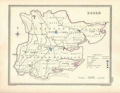 Antique Map ~ COUNTY ELECTION for ESSEX ~ 1835