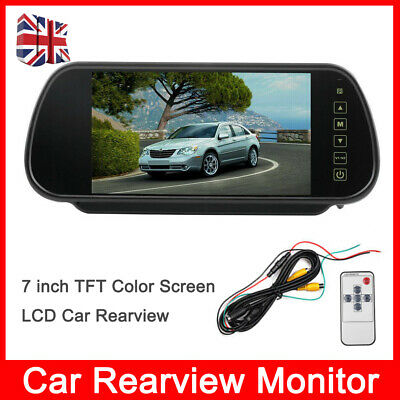 7 inch TFT LCD Car Rearview Monitor For Parking Reversing Camera Color Screen UK