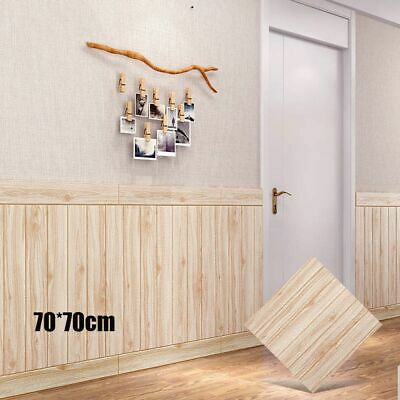 2.3*2.3ft Self-adhesive Waterproof 3D Wood Grain Wooden Wall Sticker Home Decor