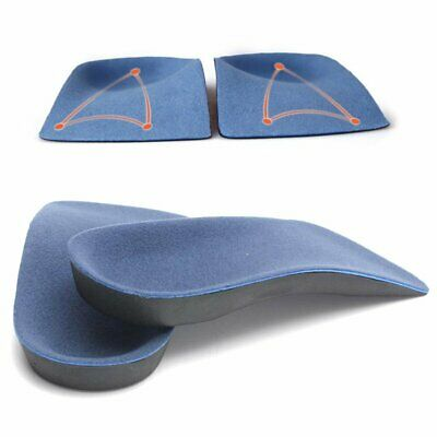 NEW 3/4 Orthotic Insoles Arch Support Inserts Fallen Arches Flat TS