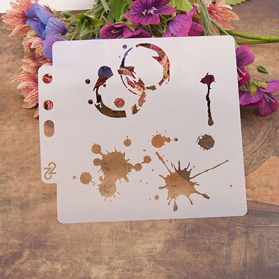 Reusable Water droplet Stencil Airbrush Art Home Decor Scrapbooking Album CraA9H