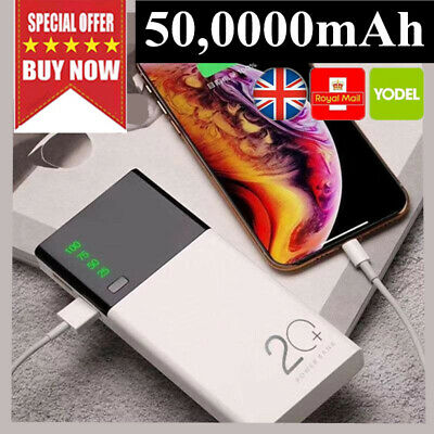 2019 New UK Portable External Battery Huge Capacity Power Bank 500000mAh Charger