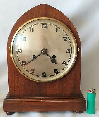 Kienzle Mantel Clock Beehive Rare Antique 8 Day Pendulum Gong Strike Big 33cms