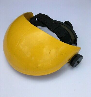 Safety Visor Browguard, Adjustable 52-64 cm, Yellow plastic, New/Old stock SALE