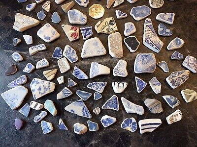 Over 100  LOVLEY Beach Finds Worn Shards Of Pottery