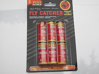 6 Pack Fly Insect Insects Bugs Wasp Poison Free Sticky Papers Traps Catchers