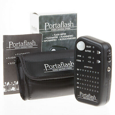 Boxed Portaflash Flash Meter With Case - Excellent Condition, Working