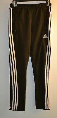 Adidas, Sweat Pants, Climate Cool, Large, Youth, Black, Two Zip Up Front Pockets