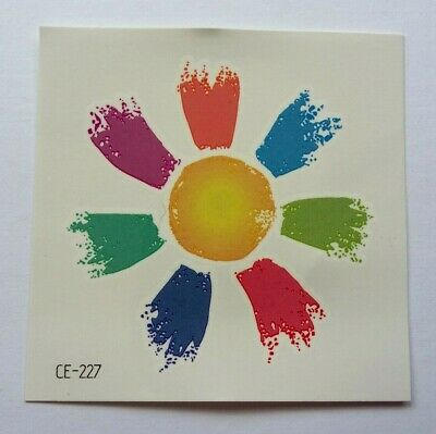 Rainbow Flower Temporary Tattoo Ce227