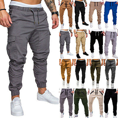 Mens Harem Trousers Slim Fit Jogger Sports Casual Sweatpants Casual Bottoms New