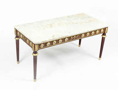 Vintage Ormolu Mounted Coffee Table Marble Top H&L Epstein Style Mid-Century