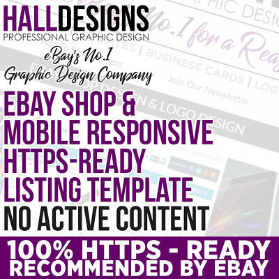 Mobile Responsive CUSTOM Listing Template  and eBay Shop Design Service