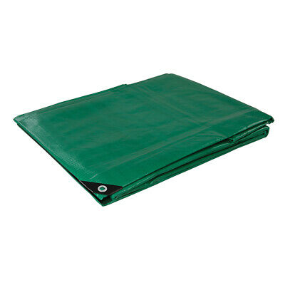 3m x 4m Heavy Duty Waterproof Tarpaulin Sheets- Protective Outdoor Ground Cover