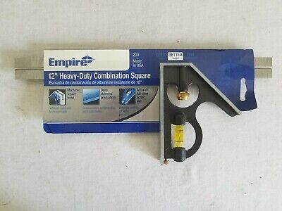 "Empire Level 230 12"" Heavy Duty Combination Square"
