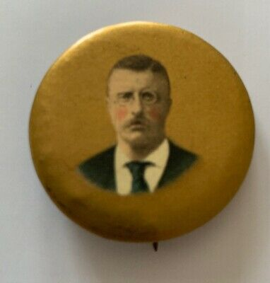 Antique Theodore Teddy Roosevelt 1904 Political Campaign Button Pinback Pin