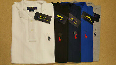 Mens Ralph lauren Polo Shirt Short Sleeve Collared Slim Fit Cotton S M L XL XXL