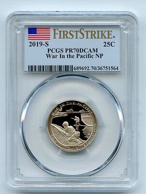 2019 S 25C Clad War In the Pacific Quarter PCGS PR70DCAM First Strike