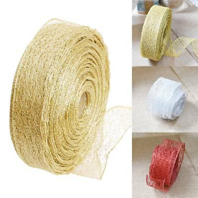 Ribbon Tree Party Wedding Home Gift Decoration Wrapping Glitter DIY 2M Christmas