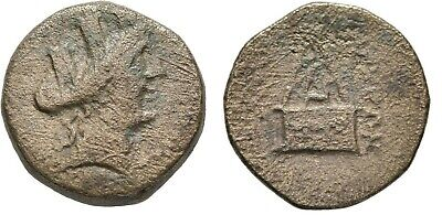 Ancient Greece 164-27 BC Cilicia Tarsos Tyche Turreted SANDAN Eagle Pyramid #2