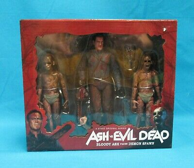 Neca Reel Toys Starz Ash vs Evil Dead Bloody Ash Faces Demon Spawn 2016 Sealed