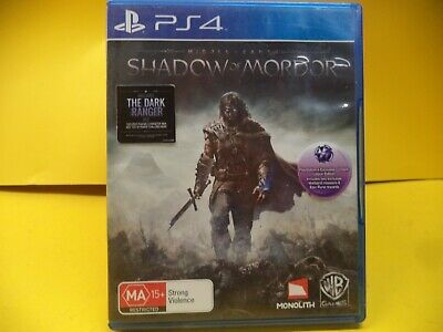 Middle Earth Shadow Of Mordor Sony Ps4 Game