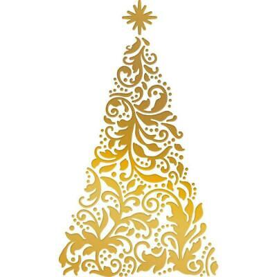 Couture Creations Hotfoil Stamp Naughty Or Nice Christmas Tree