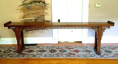 Antique CHINESE CARVED PHOEBE NANMU 黄花梨 ALTAR TABLE - Slab top