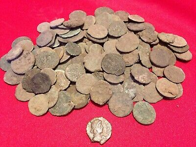 Lot of (5) Uncleaned Higher Grade Ancient Roman Coins / Constantine Era 330 AD
