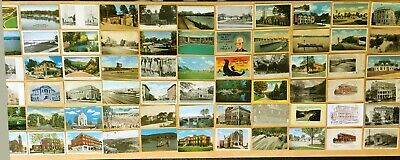 Big Collection of 163 Antique & Vintage Postcards ALL OHIO Various Towns LOT