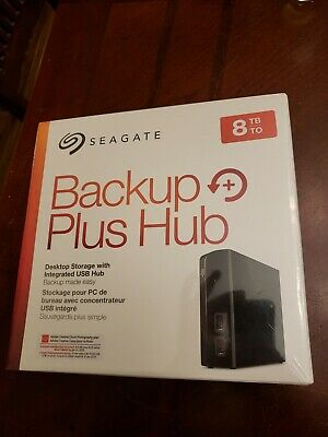 Seagate Backup Plus Hub 8TB External Desktop Hard Drive Storage - STEL8000100
