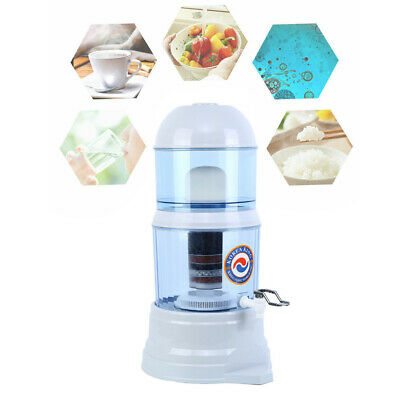 8 Stage Ceramic Water Filter Benchtop Carbon Mineral Stone Dispenser Purifier