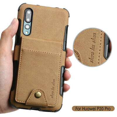 PU Leather Flip Wallet Card Holder Soft Case Cover fits Huawei P20 P30 Pro Lite