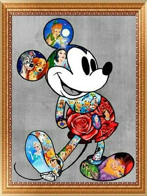 UK Color Tom/&Jerry Full Drill 5D Diamond Painting Embroidery Cross Stitch Kit LE