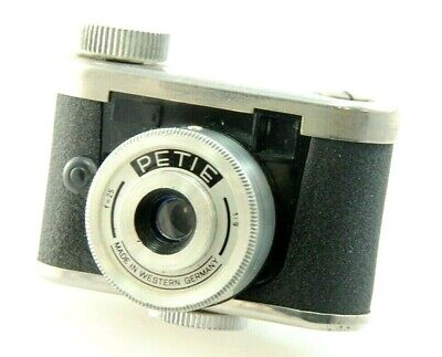 PETIE 16mm Sub-miniature camera, Walter Kunik, Made in West Germany