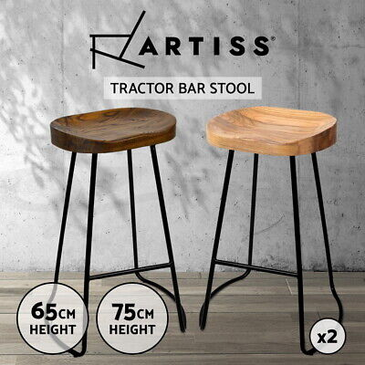 【20%OFF】Kitchen Tractor Bar Stools Vintage Stool Industrial Retro Chairs Wooden