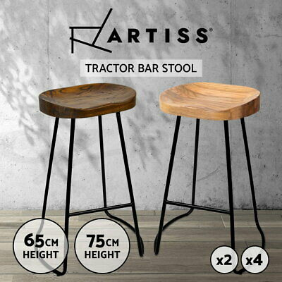 Artiss Kitchen Vintage Bar Stools Tractor Bar Stool Industrial Retro Chairs Wood