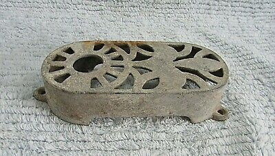 "Steampunk Industrial Unknown Antique Heavy 6"" Iron Metal Grate Covering FREE S/H"