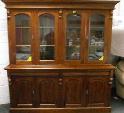 Antique Victorian Reproduction Mahogany Traditional Display Cabinet Bookcase S56