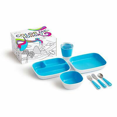 Munchkin Colour Me Hungry Dining Set 7pcs - 4 COLOURS