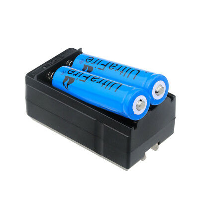 2pc UltraFire 3000mAh 18650 Battery 3.7v Li-ion Rechargeable Batteries + Charger