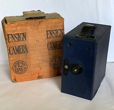 Vintage Ensign E29 Box Camera, Finished In Blue