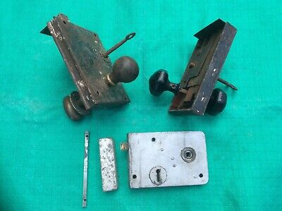 3 x Vintage Door Locks - 2 Working With keys